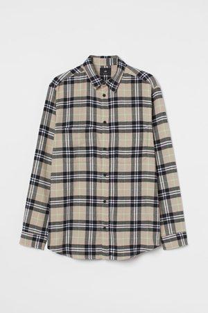 H&M Men Shirts - Regular Fit Flannel Shirt
