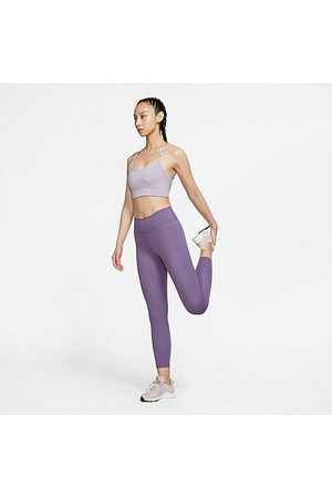 Nike Women's One Luxe Cropped Tights in /Amethyst Size X-Small Polyester/Velvet/Spandex