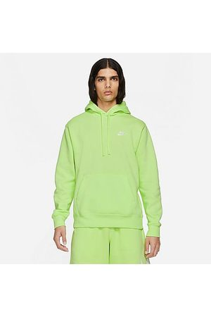 Nike Sportswear Club Fleece Embroidered Hoodie in /Light Lemon Twist Size X-Small