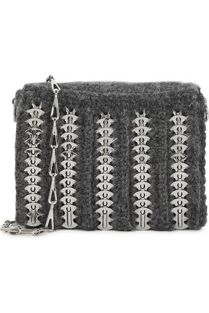 Paco rabanne Women Purses - 1969 small grey knitted shoulder bag