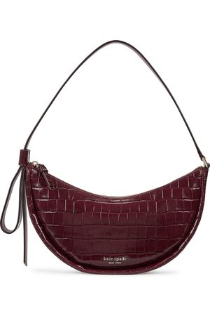 Kate Spade Smile bordeaux crocodile-effect leather shoulder bag