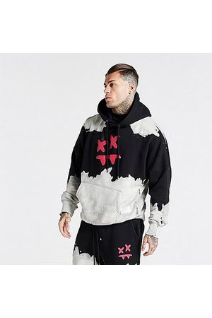 SikSilk Men's x Steve Aoki Bleach Washed Hoodie in / / Size Small Cotton/Polyester/Silk