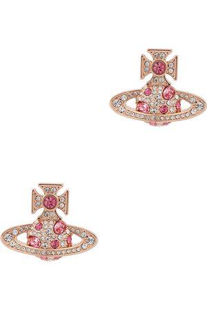 Vivienne Westwood Women Earrings - Francette Bas Relief rose gold-tone earrings