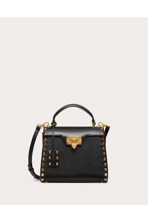 VALENTINO GARAVANI Women Purses - Small Rockstud Alcove Grainy Calfskin Handbag Women 100% Pelle Di Vitello - Bos Taurus OneSize