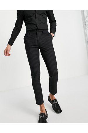 New Look Men Formal Pants - Pinstripe suit pants in