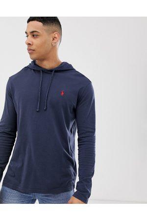Polo Ralph Lauren Men Long Sleeve - Player logo hooded long sleeve t-shirt in navy