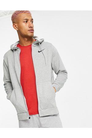 Nike Men Hoodies - Dry fleece zip thru hoodie in -Grey