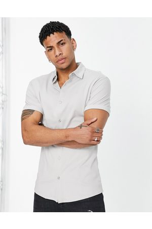 River Island Short sleeve jersey muscle shirt in -Grey