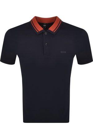 HUGO BOSS BOSS Phillipson 95 Short Sleeved Polo T Shirt Navy
