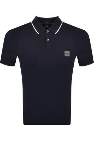 HUGO BOSS Men Polo Shirts - BOSS Passertip 1 Polo T Shirt Navy