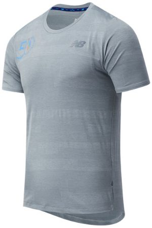Men Short sleeves - New Balance Men's NYC Marathon Q Speed Fuel Jacquard Short Sleeve