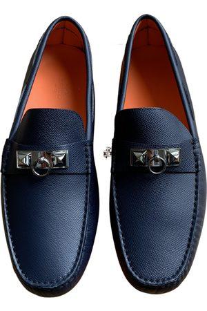 Hermès Irving leather flats