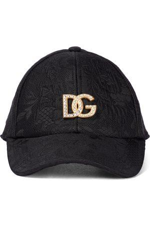 Dolce & Gabbana Embellished-logo jacquard cap