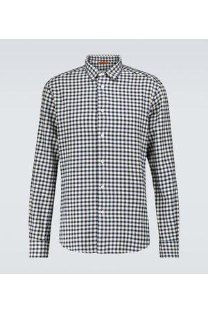 BARENA Coppi long-sleeved checked shirt