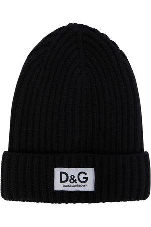 Dolce & Gabbana Logo ribbed-knit wool beanie