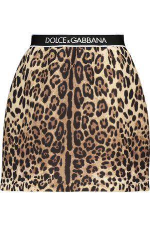 Dolce & Gabbana High-rise leopard-printed miniskirt