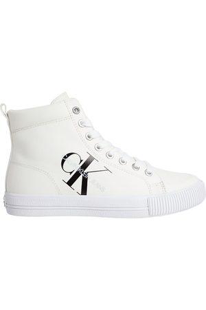 Calvin Klein Women Sneakers - Vulcanized Mid Laceup Trainers EU 36 Triple