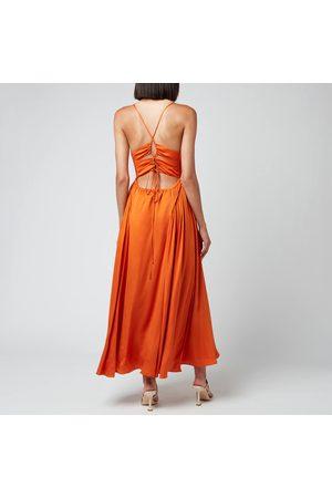 Self-Portrait Women's Burnt Tie Bodice Midi Dress