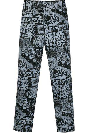 Comme des Garçons Straight Leg Pants - Graffiti print straight-leg trousers