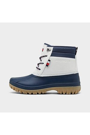 Tommy Hilfiger Girls Boots - Girls' Big Kids' Duck Boots in /Navy Size 4.0
