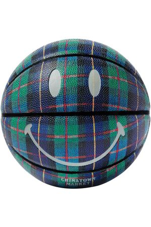 Chinatown Market Men Sports Equipment - Smiley Ivy League Tartan Basketball