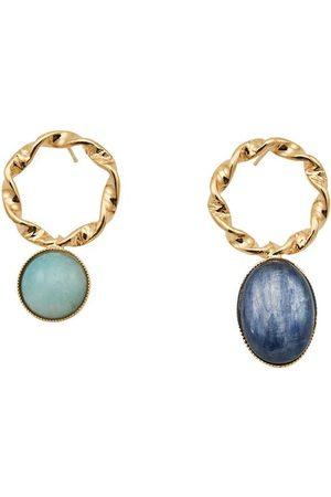 D'ESTREE Mini Sonia Blue Amazonite And Kyanite Earrings
