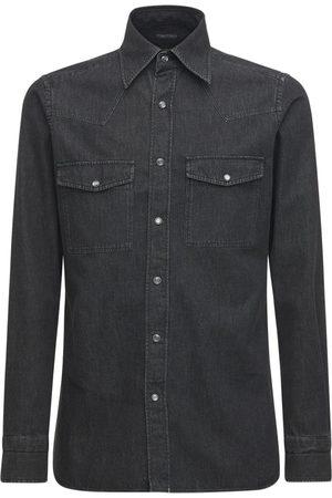 Tom Ford Men Shirts - Cotton Denim Shirt