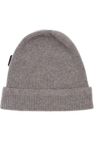 Tom Ford Men Hats - Logo Label Cashmere Fisherman Rib Hat