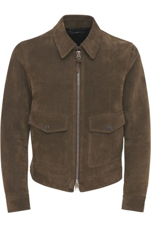 Tom Ford Buttery Suede Shirt Jacket