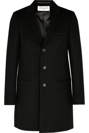 Saint Laurent Men Coats - Chesterfield wool coat