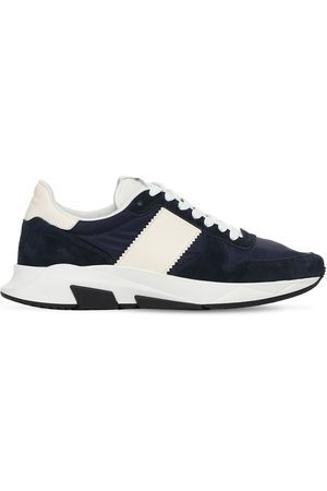 Tom Ford Jago Suede Nylon Low Top Sneakers