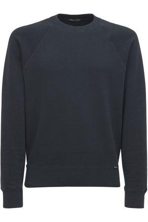 Tom Ford Men Sweatshirts - Logo Vintage Dyed Cotton Sweatshirt