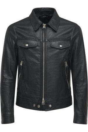 Tom Ford Smooth Grain Leather Zip Jacket