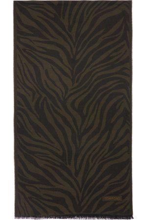 Tom Ford Men Scarves - Logo Jacquard Wool Scarf