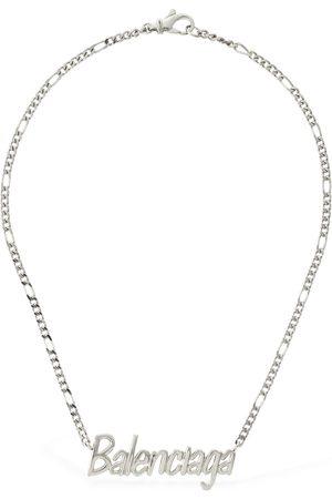 Balenciaga Logo Lettering Necklace