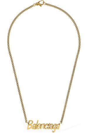 Balenciaga Women Necklaces - Logo Lettering Necklace