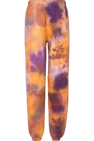 Collina Strada Tie-dyed cotton-blend sweatpants
