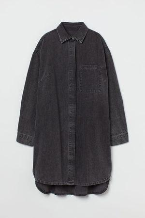 H&M Women Casual Dresses - Oversized Denim Dress