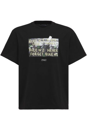 Throwback. Never Loose Money Printed Cotton T-shirt