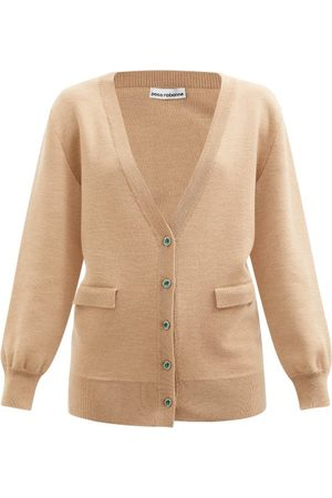 Paco rabanne Crystal-button Wool-blend Cardigan - Womens