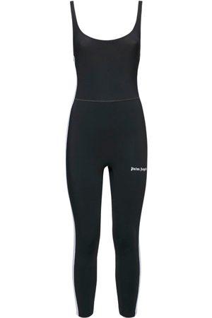 Palm Angels Women Jumpsuits - Logo Stretch Jersey Jumpsuit