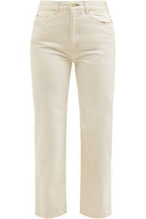 TU ES MON TRESOR Emerald High-rise Straight-leg Jeans - Womens - Ivory