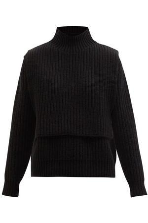 Jil Sander Women Sweaters - Layered Ribbed Wool-blend Sweater - Womens