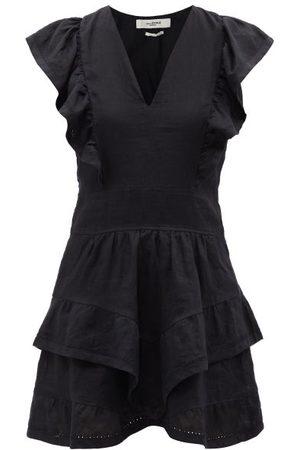Isabel Marant Audrey Embroidered Linen Mini Dress - Womens