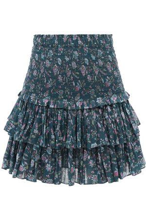 Isabel Marant Naomi High-rise Floral-print Cotton Mini Skirt - Womens - Multi