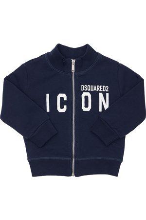 Dsquared2 Icon Print Zip-up Cotton Sweatshirt