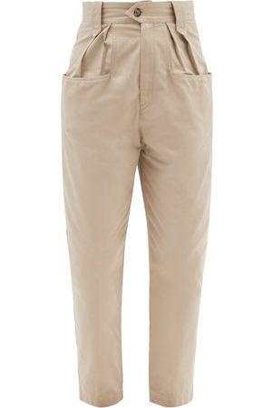 Isabel Marant Women Pants - Pulcina High-rise Cotton-gabardine Trousers - Womens