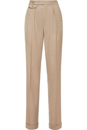 Ralph Lauren Tailored Wool Straight Leg Pants