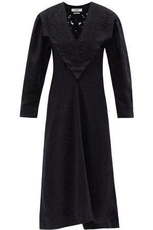 Isabel Marant Erna Broderie-anglaise Linen Midi Dress - Womens