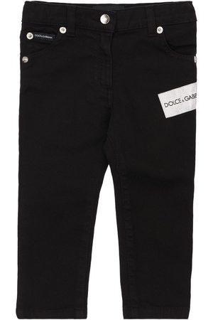 Dolce & Gabbana Embellished Cotton Denim Jeans